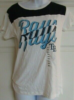 Tampa Bay Rays MLB Women's Cotton  Baseball T-Shirt New - Tampabay Rays