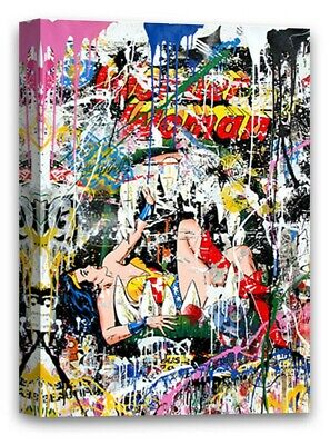 Mr Brainwash Canvas Graffiti by Mr Brainwash Street Art Brainwash Canvas (Mr Brainwash Graffiti)