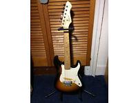 Music Instrument Electric guitar, amplifier, stand, wire, tuner, plectrum, etc