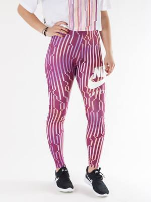 Ladies Nike International Women's Printed Leggings Pants True Berry White M L XL