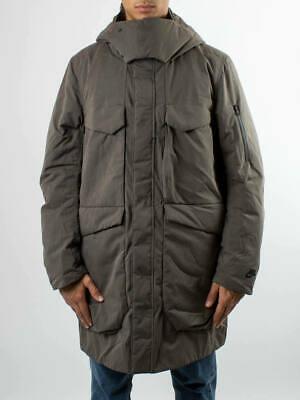 Men's Nike Sportswear Tech Pack Down Fill Hooded Parka -Size L -928912 001 <New>