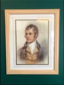 Large Robert Burns portrait framed print