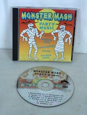 Monster Mash Party Music Audio CD Spooky Halloween Music 10 Songs - Monster Mash Halloween Song