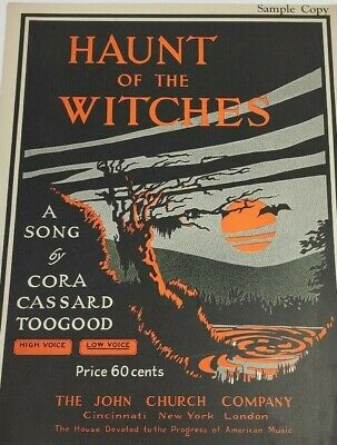 - c.1924 Haunt of the Witches Cora Cassard Toogood John Church Co RARE Sheet Music