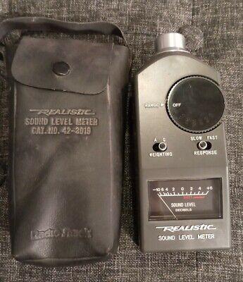 Nos Vintage Realistic Digital Sound Level Meter Radio Shack 42-3019 Working
