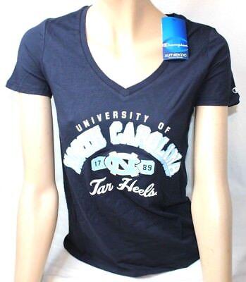 North Carolina Tar Heels Women's NCAA Champion Achieve V-neck Tee T Shirt Small Champion North Carolina Tar Heels