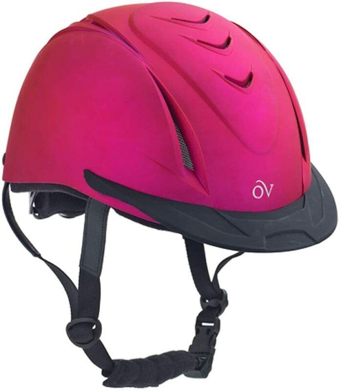 Ovation Metallic Schooler Helmet - Fuchsia - X-Small/Small
