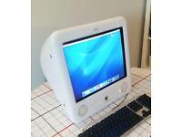 Apple Desktop Computer - eMac - Still working, just old. CS Photoshop and Illustrator installed.