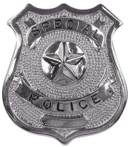 Silver Special Police Shield Badge