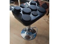 Alesis Drum and Percussion Pad on robust adjustable chrome stand, ideal for quite rehearsal