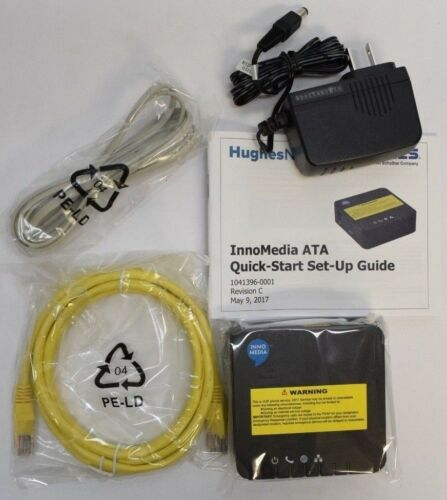 (New In Box) HughesNet InnoMedia MTA8328-1N ATA SIP 2.0 VoIP Phone Adapter FXS