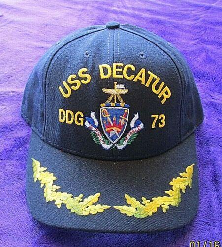 U S NAVY CAP NAVY  USS DECATUR DDG 73  VTG ADJUSTABLE          SHD BX