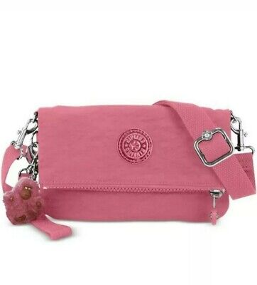 Kipling crossbody bag lynne convertable sm, rose pink,NEW with all tags