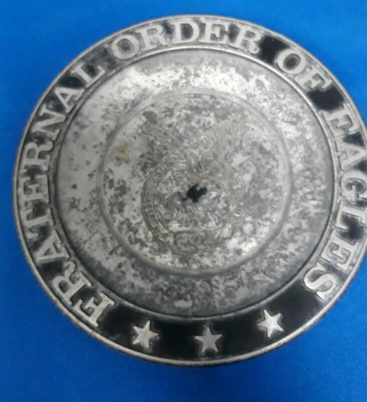 """Fraternal Order Of Eagles Metal Round 6"""" Tray"""