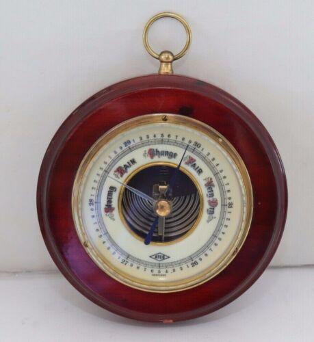 Vintage ATCO German Wood Barometer J&G 1651 Stormy Rain Change Fair Very Dry