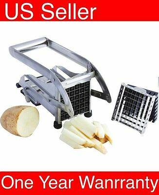 K22 Stainless Steel French Fry Cutter Potato Vegetable Slicer Chopper 2 Blades