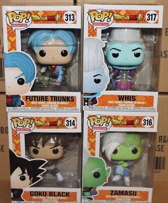 Funko Pop Dragon Ball Whis Zamasu Goku Black   Trunks    Blowout Sale