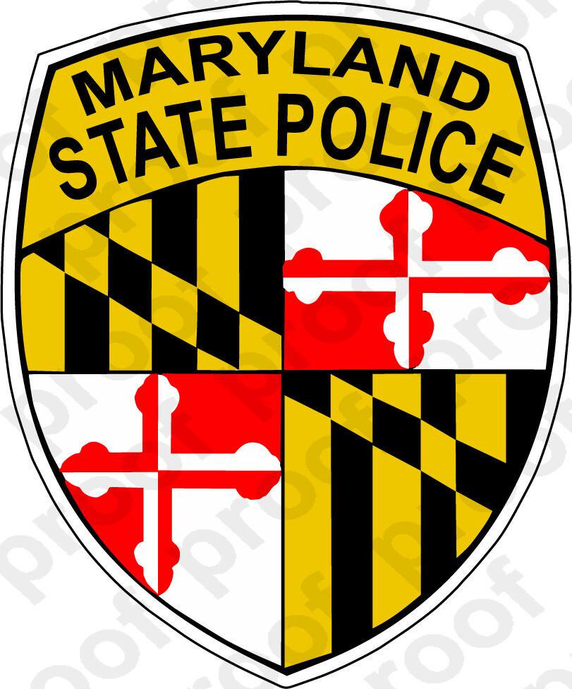 Home Decoration - STICKER MARYLAND STATE POLICE