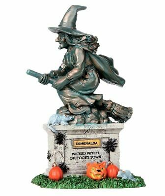 New Lemax Spooky Town WITCH STATUE #04153 - Spooky Witch