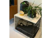 """Omlet Fido Studio Dog Crate 24"""" with tray and bed - Excellent condition"""