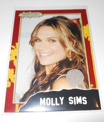 PopCardz Costume Trading Card #12 Actor Molly Sims (V.4) (Sims Costume)