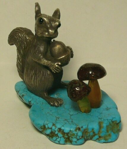 Squirrel Faberge Turquoise 84 Silver Imperial Russia 1896 Agate Amber