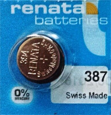 387S RENATA WATCH BATTERIES 394 New packaging Authorized