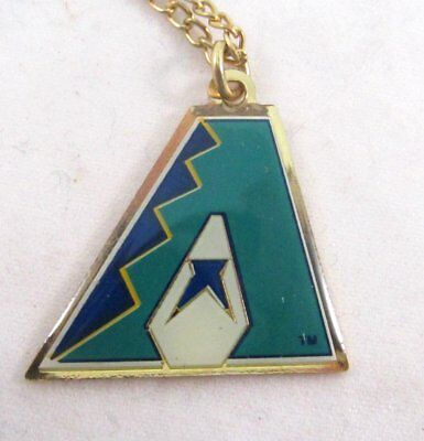 Inaugural Arizona Diamondback Baseball Team Logo Necklace on Chain Arizona Diamondbacks Chain Necklace