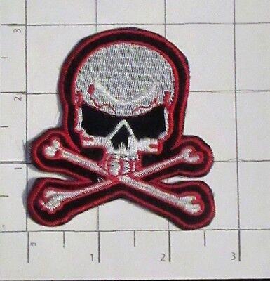 Skull Patch - Motorcycle - Biker  -  iron-on