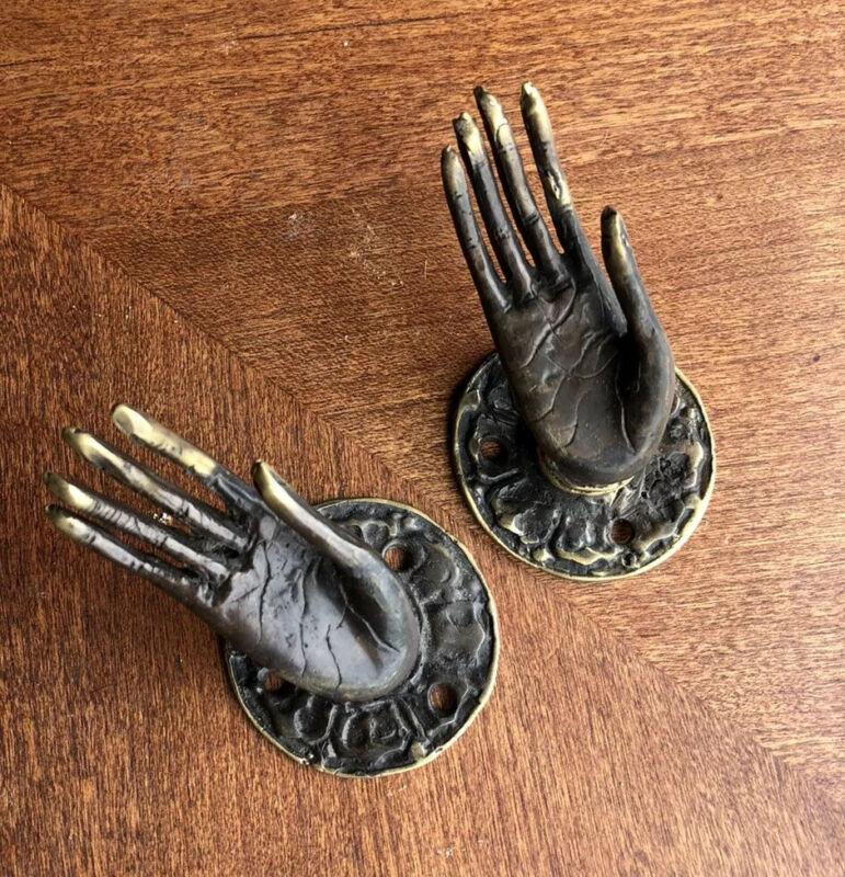 Princess Goddess Bronze Hands Door Or Cabinet  Handles