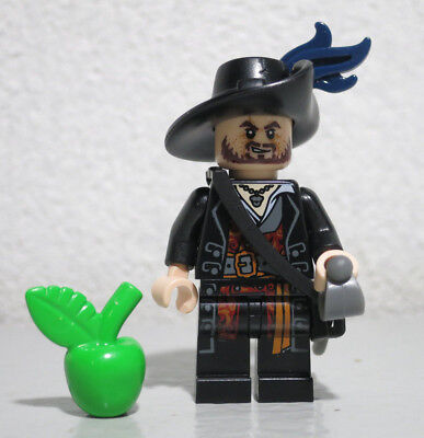 Hector Barbossa 4181 Plume Pirates of Caribbean Lego figure minifigure - Hector Barbossa