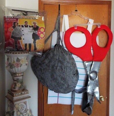 SPIRIT ROCK, PAPER SCISSORS ADULT COSTUME, 3 PEOPLE, EXCELLENT CONDITION, W /BAG - Paper Scissors Rock Costume