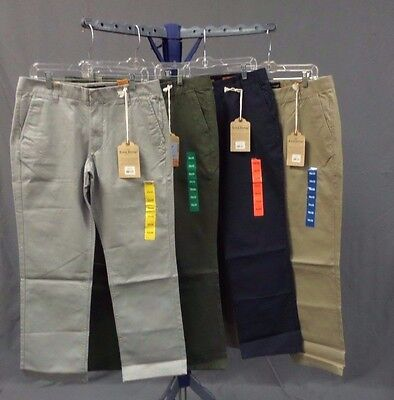 NWT Men's Tailor Vintage Flat Front Casual/Dress Pants 100% Cotton Washed - Vintage Washed Chino