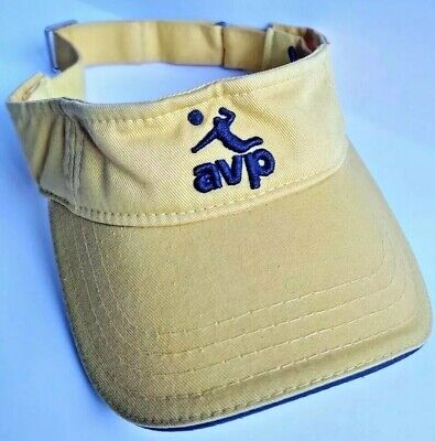 Volleyball AVP Hat/Visor Adjustable Size Yellow and -