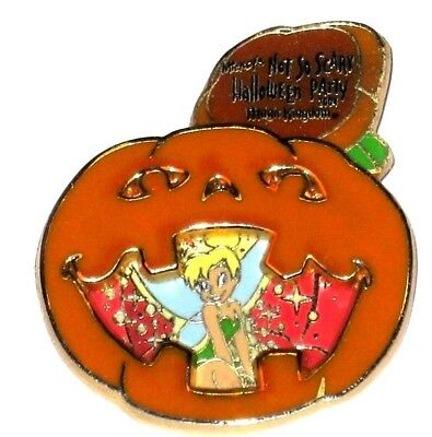 LE Disney Pin✿Tinker Bell Tink Halloween Pumpkin 3D Rare MNSSHP Not So Scary HTF - Tinkerbell Halloween Pumpkin