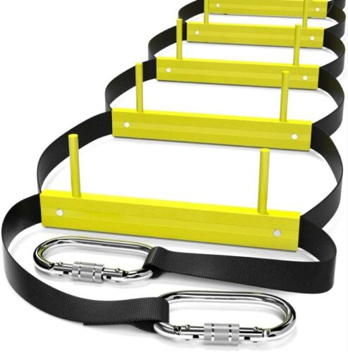 Retractable Ladders for 2 - 3 Story | Rope Ladder for Balcony & Windows Escape