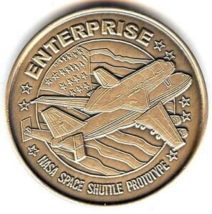 N509      NASA  SPACE  COIN /  MEDAL,      ENTERPRISE,    SHUTTLE  PROTOTYPE