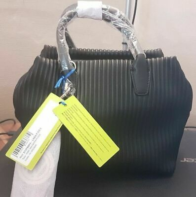 Versace Jeans Black Handbag with Detachable Charm and Strap