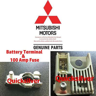 2002 2005 Mitsubishi Lancer EVO Positive Battery Terminal & 100 AMP Fuse New OEM for sale  Youngstown