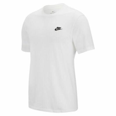 Nike Men's Sportswear CLUB T-Shirt White/Black AR4997-101 d
