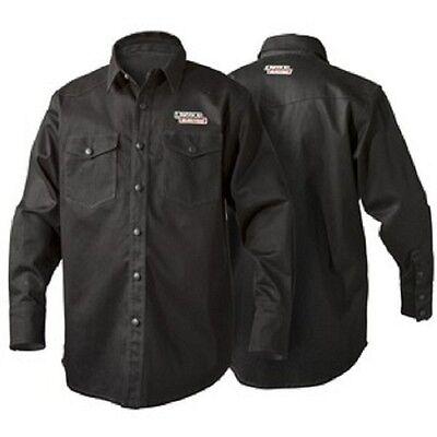 Lincoln K3113 Black Flame Retardent Welding Shirt Size Large K3113-l