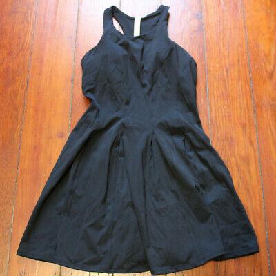 NWT Lululemon Court Crush Tennis Dress Built in Bra Black 8 $128 FREE SHIP