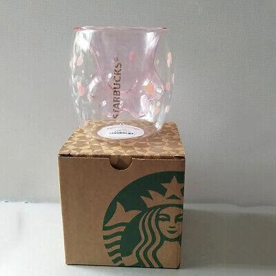 Hot Cat Paw Cup Coffee Mugs Sakura Pink Glass Mug Double Walled for Starbucks
