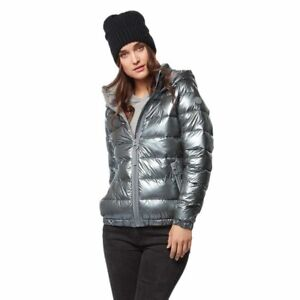 Bench Silver Puffy Winter Jacket