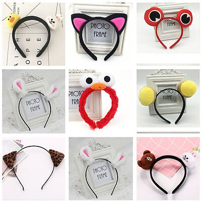 Cute Animal Ear Hair Hoop Hair Band Accessories Headband Christmas Halloween LOT