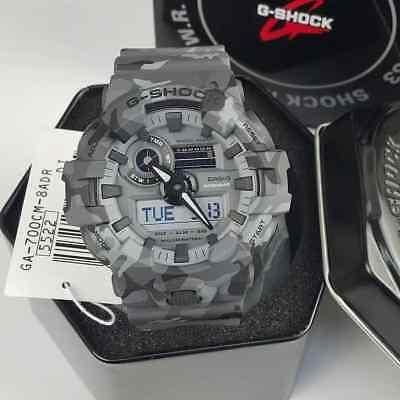 New Casio G-Shock GA700CM-8A Super Illuminator Ana-Digital 3D Gray Camo Watch for sale  Hialeah