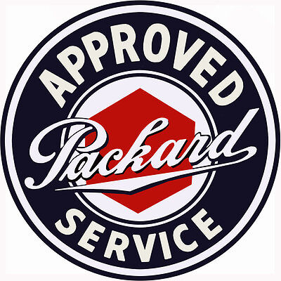 Extra Large Approved Packard Service Station Gas and Motor Oil Sign