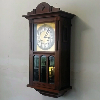 grandfather clock png. antique german wall clock walnut case pipe strike \u0026 pendulum 1910 grandfather png