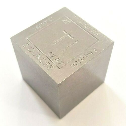 5 Ounce .999 Fine Titanium Elemental Cube - 1.25