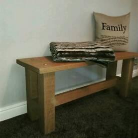 Hard wood oak bench